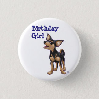 Chihuahua Party Center Button