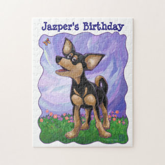 Chihuahua Party Center Jigsaw Puzzles