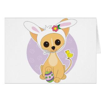 Chihuahua Pascua Tarjeta De Felicitación