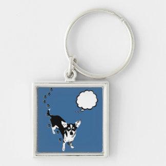 Chihuahua Paw Prints Keychain
