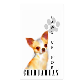 Chihuahua Paws Up Business Cards