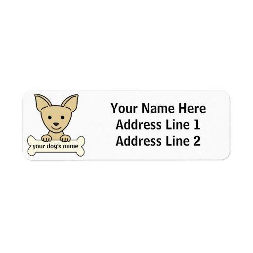 Chihuahua personalizada etiqueta de remite