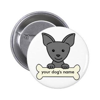 Chihuahua personalizada pin redondo 5 cm