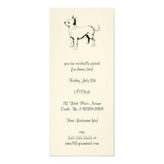 Chihuahua Pet Dog 4x9.25 Paper Invitation Card
