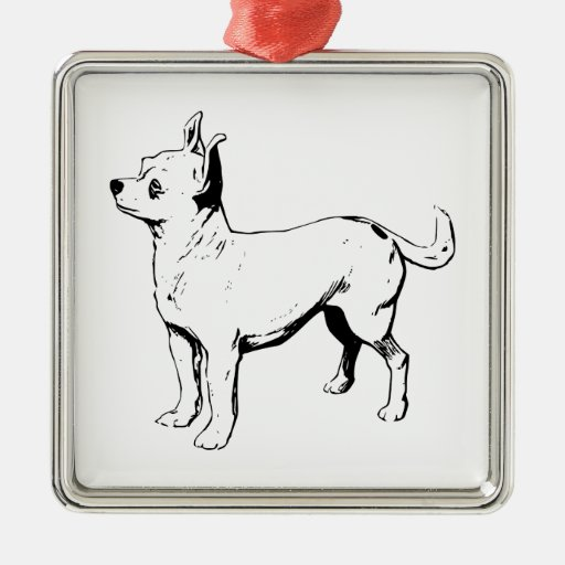 Chihuahua Pet Dog Metal Ornament