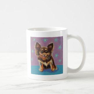Chihuahua - pintura original linda colorida de la  tazas de café