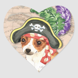 Chihuahua Pirate Heart Sticker