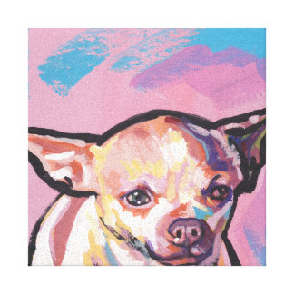 Chihuahua Pop Art on Stretched Canvas