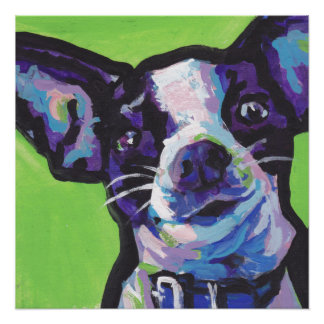 Chihuahua pop dog art poster