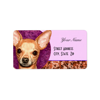 Chihuahua Portrait Label