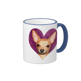 Chihuahua Portrait Ringer Coffee Mug