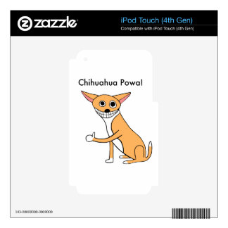 Chihuahua Powa! iPod Touch 4G Decals