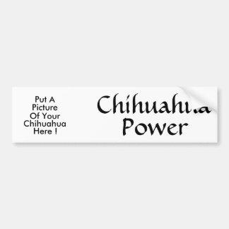 Chihuahua  Power Car Bumper Sticker