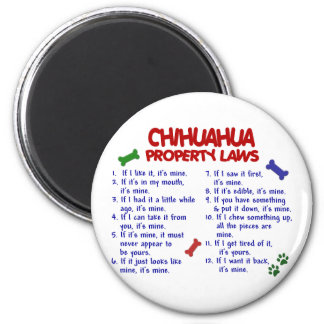 CHIHUAHUA Property Laws 2 2 Inch Round Magnet