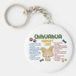 Chihuahua Property Laws 4 Basic Round Button Keychain