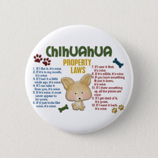 Chihuahua Property Laws 4 Pinback Button
