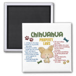 Chihuahua Property Laws 4 Refrigerator Magnets