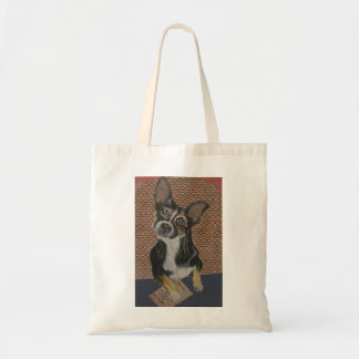 Chihuahua Pug Mix, Wearing a Monocle Tote Bag