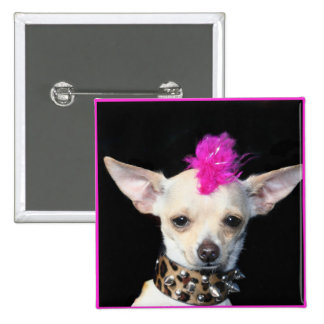 Chihuahua Punk Button