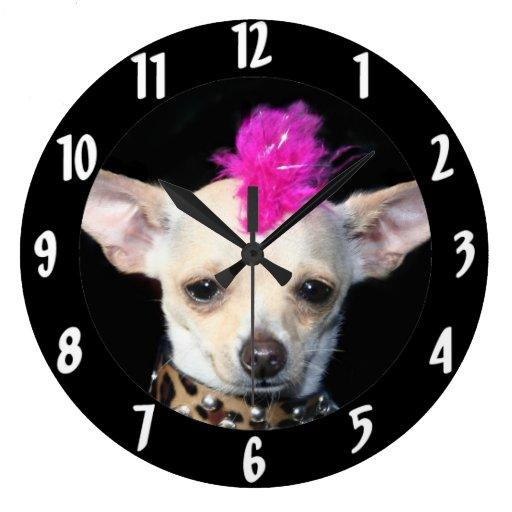 Chihuahua Punk dog Wallclocks