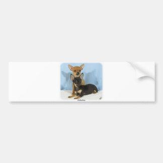 Chihuahua puppies 9W079D-020 Car Bumper Sticker