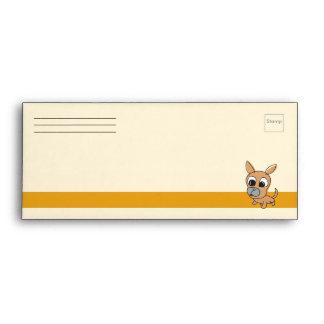 Chihuahua Puppy # 9 Envelope Orange