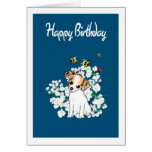Chihuahua Puppy Birthday Card - Add own greeting