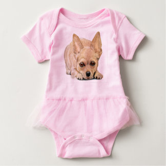Chihuahua Puppy by Carol Zeock Baby Bodysuit