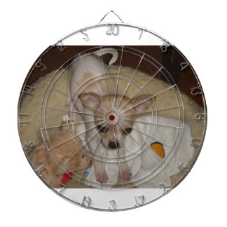 Chihuahua_puppy Dartboard With Darts