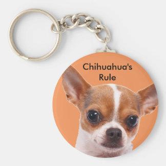 Chihuahua Puppy Dog Basic Round Button Keychain