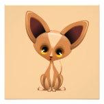 Chihuahua Puppy Dog Cartoon Poster Photographic Print