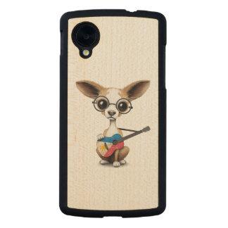 Chihuahua Puppy Dog Playing Filipino Flag Guitar Carved® Maple Nexus 5 Slim Case