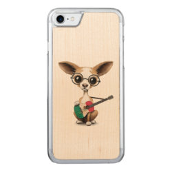 Carved Apple iPhone 7 Wood Case with Chihuahua Phone Cases design