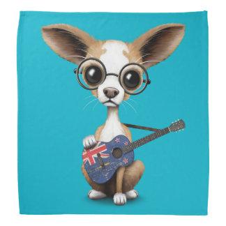 Chihuahua Puppy Dog Playing New Zealand Guitar Bandana