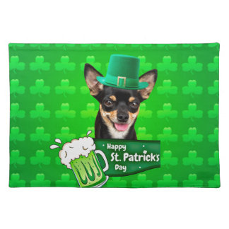 Chihuahua Puppy Dog St. Patrick's Day Green Clover Placemat