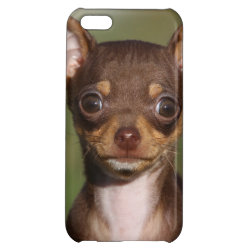 Case Savvy Matte Finish iPhone 5C Case with Chihuahua Phone Cases design