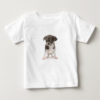 Chihuahua puppy standing of white background baby T-Shirt