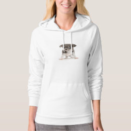 Chihuahua puppy standing of white background hoodie