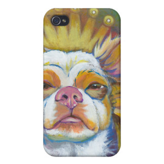 Chihuahua Queen fun original Long haired dog art iPhone 4 Cases