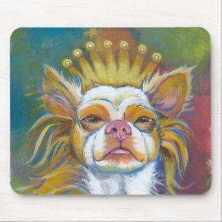 Chihuahua Queen fun original Long haired dog art Mouse Pad