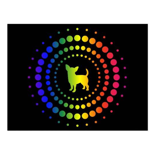 Chihuahua Rainbow Studs Postcard
