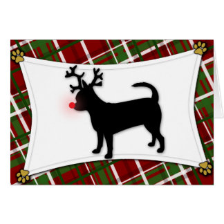 Chihuahua Reindeer Christmas Card