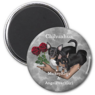 Chihuahua Roses Magnet