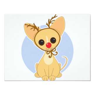 Chihuahua Rudolf 4.25x5.5 Paper Invitation Card
