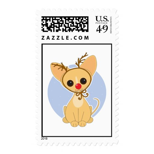 Chihuahua Rudolf Postage