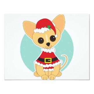 Chihuahua Santa 4.25x5.5 Paper Invitation Card