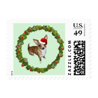 Chihuahua Santa Postage