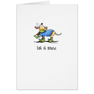 Chihuahua Scarf Let it Snow Christmas Greeting Greeting Cards