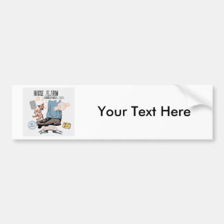 Chihuahua Security Alarm Funny New Invention Bumper Sticker