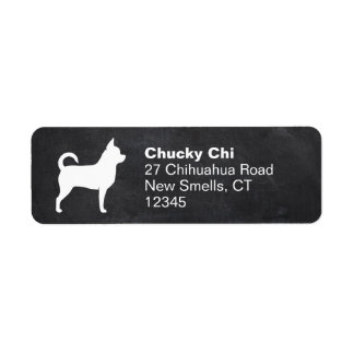 Chihuahua Silhouette Label
